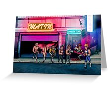 Double Dragon pixel art Greeting Card