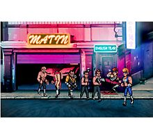 Double Dragon pixel art Photographic Print
