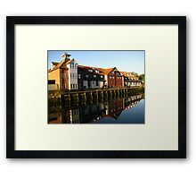 Reflections, Stoke Maltings, Ipswich Framed Print