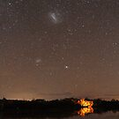 Camping Under the Stars Panorama by Wayne England