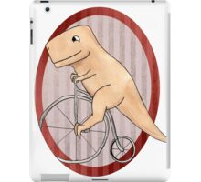 T-rex can ride a penny farthing iPad Case/Skin