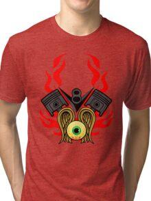 V8 Piston Heads Flying Eye Tri-blend T-Shirt