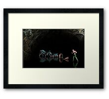 Alien 3 pixel art Framed Print