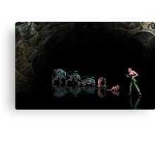 Alien 3 pixel art Canvas Print