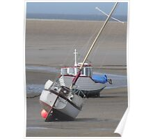BEACHED BOATS. Poster