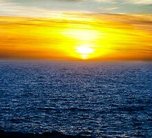 Flaming sunset by Mark Farrugia