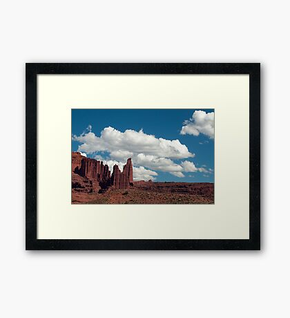 Stone Towers Framed Print