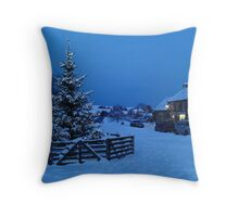 Merry Christmas From Goathland Throw Pillow