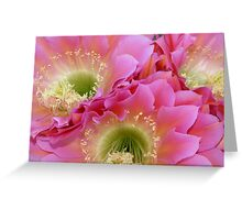 Neon Flowers in the Desert Greeting Card