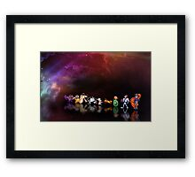Earthworm Jim pixel art Framed Print