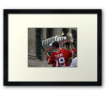 TAZER WITH THE STANLEY CUP! Framed Print