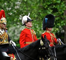 Three Big Hats: Trooping the Colours. London. UK by DonDavisUK