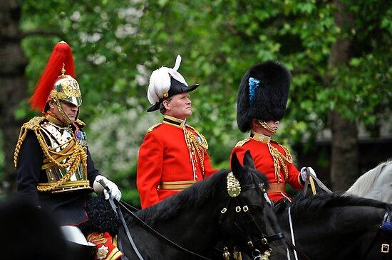 Three Big Hats: Trooping the Colours. London. UK by DonDavisUK