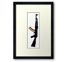 Machine Gun Silhouette - AK-47 Edition Framed Print