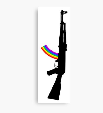 Machine Gun Silhouette - AK-47 Edition Canvas Print