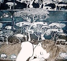 """Dreaming of Life"" Aquatint Etching by Belinda ""BillyLee"" NYE (Printmaker)"