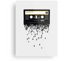 The death of the cassette tape. Metal Print