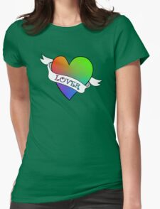 Lover's Heart (Beige) Womens Fitted T-Shirt