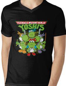 Teenage Mutant Ninja Yoshis Mens V-Neck T-Shirt