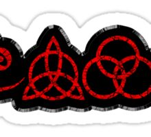 TRIQUETRA - BLACK METAL RED STICKER Sticker