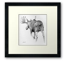 Moose Departing Framed Print