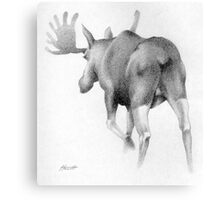 Moose Departing Canvas Print