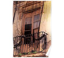 Window in mourning - Malaga Spain Poster