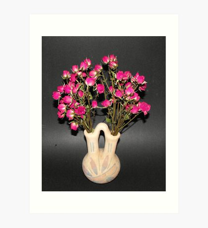 Little Roses in Vase Art Print