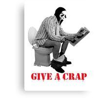 GIVE A CRAP 2 Canvas Print