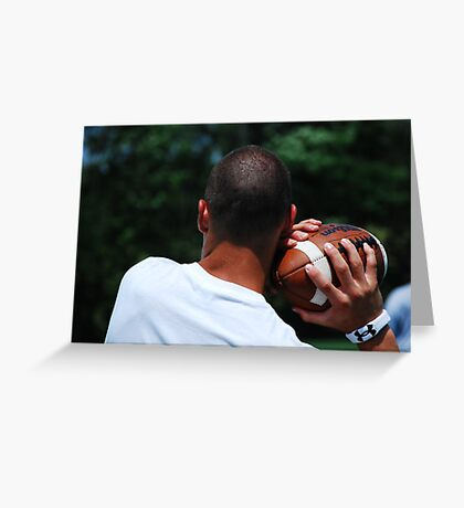 A Firm Grip on the Ball Greeting Card