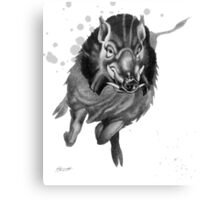 Charging Boar Canvas Print
