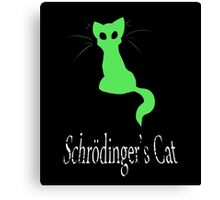 Schrödinger's Cat Canvas Print