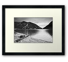 Icy Cold Lake Plan Framed Print