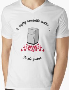 I Enjoy Romantic Walks To The Fridge Mens V-Neck T-Shirt