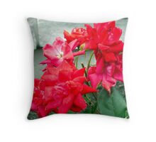 My Mom's Flowers Throw Pillow