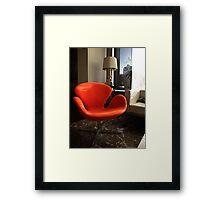Arne Jacobsen -  Swan Chair Framed Print