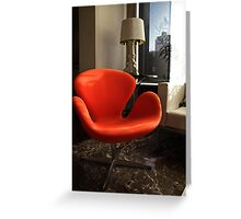 Arne Jacobsen -  Swan Chair Greeting Card