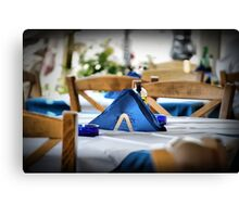 Empty Table Canvas Print