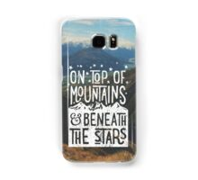 On Top Of Mountains Samsung Galaxy Case/Skin
