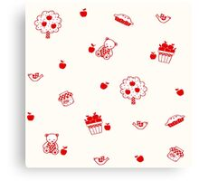 Apple Pie Bears Canvas Print