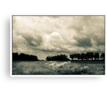 Storm Clouds Over A Meadow With Trees  Bucyrus Ohio Canvas Print