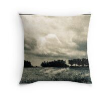 Storm Clouds Over A Meadow With Trees  Bucyrus Ohio Throw Pillow