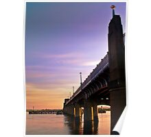 The Kincardine Bridge At Dusk, Scotland Poster