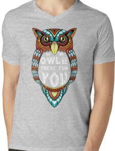 Owl be There for You Mens V-Neck T-Shirt