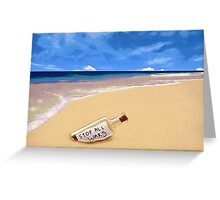 Message in the bottle Greeting Card