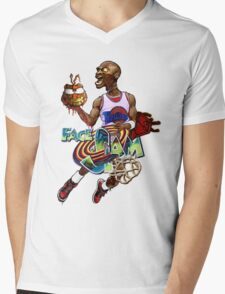 Face Slam Mens V-Neck T-Shirt