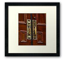Door to history Framed Print