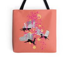 weird city sunset Tote Bag