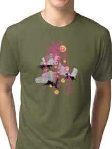 weird city sunset Tri-blend T-Shirt