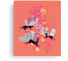 weird city sunset Canvas Print